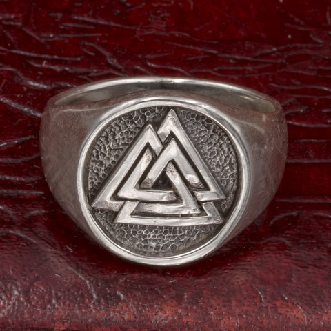 Sterling Silver Valknut Ring