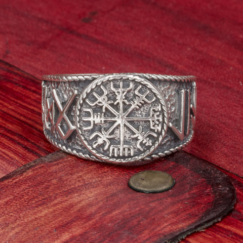 Sterling Silver Vegvisir ring