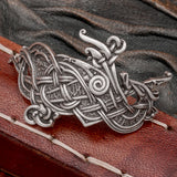 Jelling Dragon with runes Hair Clip