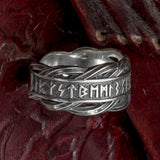 Sterling Silver Rune Ring/Wedding Band
