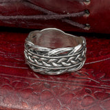 Sterling Silver Knotwork Ring/Wedding Band