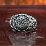 skullvikings viking norse larp larping valknut urnes dragon 925 sterling silver ring uk