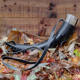 2 Piece Set Drinking Horn (Regular) Black Holder