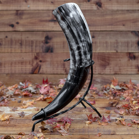 Drinking Horn with iron stand (Large)