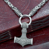 skullvikings viking larp norse larping hand made thors hammer pendant box chain uk