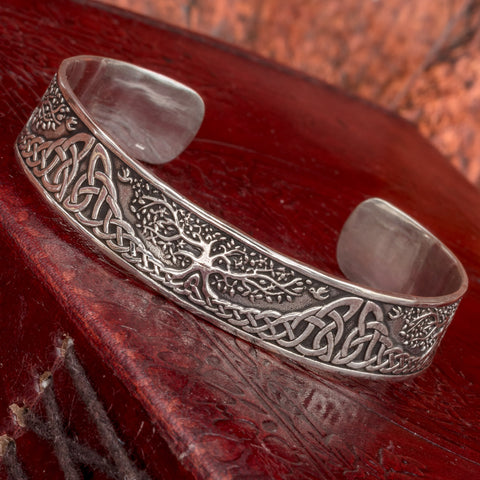 Sterling Silver Yggdrasill (Tree of Life) Bangle
