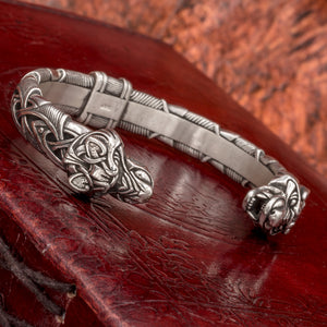 You added Heavy Sterling Silver Fenrir (Wolf Head) Arm Ring to your cart.