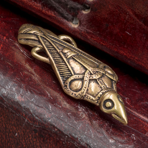 Bronze Raven Brooch