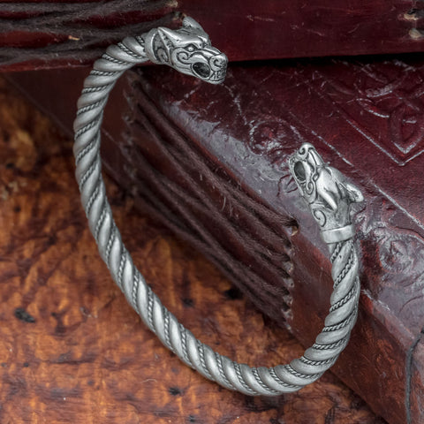 skullvikings viking norse larp larping historic fenrir wolf arm ring armring torc torque bangle uk