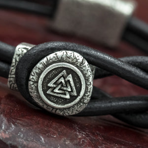 You added Silver plated Valknut Leather Hook Bracelet to your cart.
