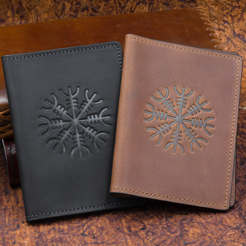 Ægishjálmr Passport Cover (Brown/Black)