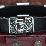 Helm of Awe Mammen Charm Leather Cuff