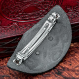 Black Leather Hair Clip / Slide