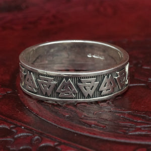 You added Sterling Silver Valknut Ring/Wedding Band to your cart.
