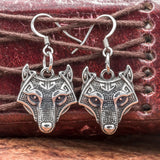 Stainless Steel Fenrir Earrings