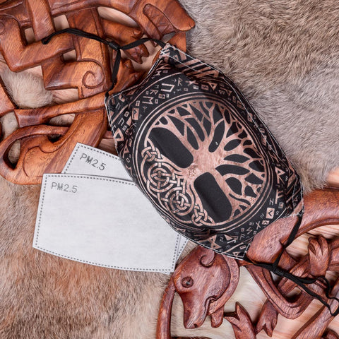 Tree of Life Rune Face Covering / Mask
