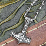 Stainless Steel Thor's Hammer (Mjölnir) with chain