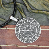 Vegvisir with Runes Amulet