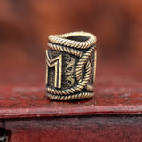 Ehwaz Rope Rune Hair / Beard Bead
