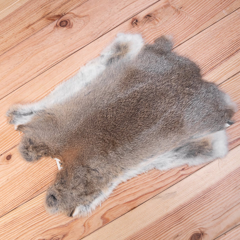Rabbit Fur Skin (cream / brown)