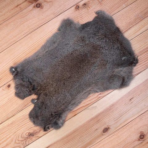 Rabbit Fur Skin (dark grey / brown)