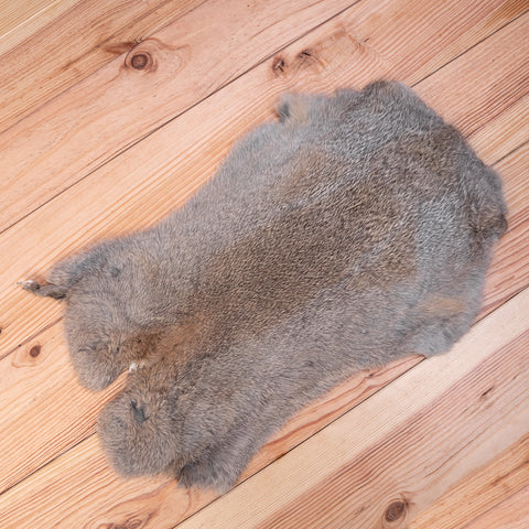 Rabbit Fur Skin (grey / brown)