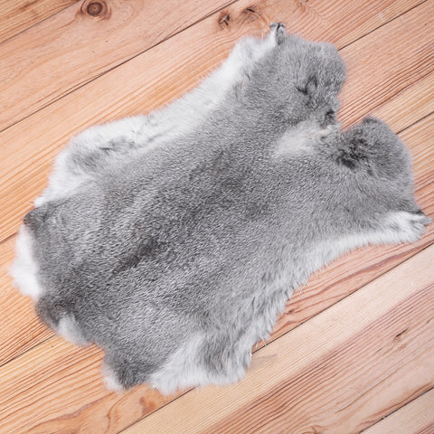 Rabbit Skin (grey / white)