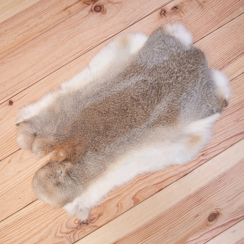 Rabbit Skin (cream / brown / white)
