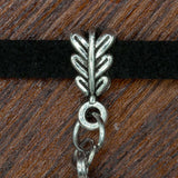 leafy metal clip for viking choker