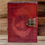 viking tree of life yggdrasill leather book