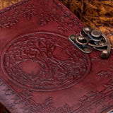 Handmade Leather Tree of Life Yggdrasil Journal or Notebook