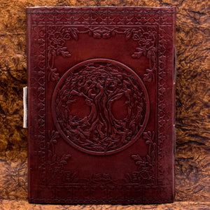 You added Handmade Leather Tree of Life Yggdrasil Journal or Notebook to your cart.