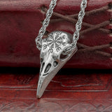 uk helm of awe raven skull chain necklace