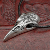uk helm of awe raven skull  necklace