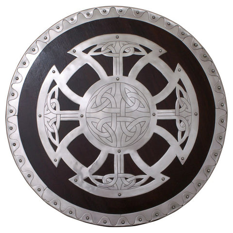 Viking Shield with Steel Fittings