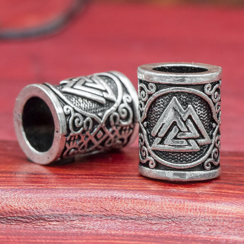 Valknut Hair & Beard Bead viking