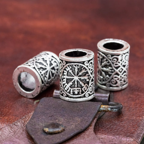 Viking Vegvisir Hair Beard Bead