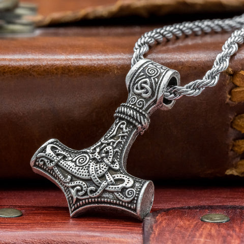 Thor's Hammer (Mjölnir) with chain viking