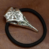 Helm of Awe Raven Skull Hair Band / Hair Tie