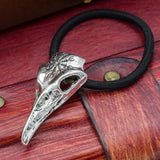 Viking Helm of Awe Raven Skull Hair Band / Hair Tie