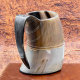Carved Horn Tankard (Large)
