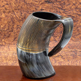 natural viking horn drinking tankard hand crafted