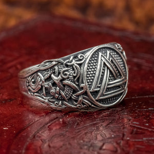 You added Sterling Silver Valknut Mammen Axe Ring to your cart.