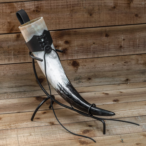 3 piece Full Set Drinking Horn (REGULAR) Black Holder