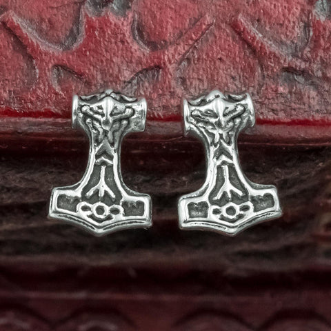 Stainless Steel Mjölnir  Stud Earrings