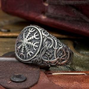 You added Sterling Silver Urnes Helm of Awe Ring to your cart.