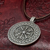 Sterling Silver Vegvisir Amulet with Knotwork