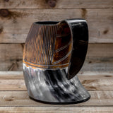 skullvikings viking norse larp larping game of thrones large hand crafted natural viking drinking horn tankard mug