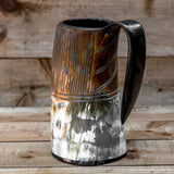 skullvikings viking norse larp larping game of thrones small hand crafted natural viking drinking horn tankard mug
