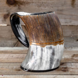 Carved Horn Tankard (XL)